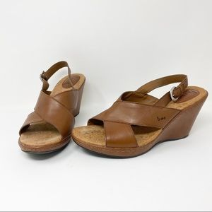 BOC Leather Wedges